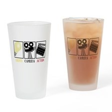 Lights Camera Action Drinking Glass