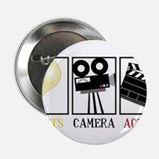 """Lights Camera Action 2.25"""" Button"""