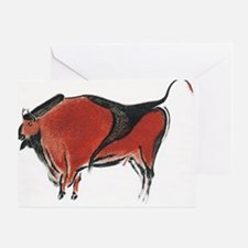 Cave painting of a bison, artwork - Greeting Card