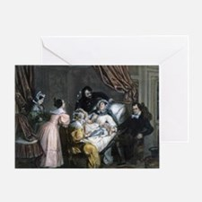 Childbirth, 19th century artwork - Greeting Card