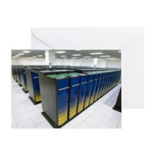 Cray XT4 supercomputer cluster - Greeting Card