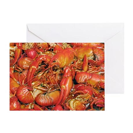 Cooked crayfish - Greeting Card