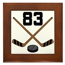 Hockey Player Number 83 Framed Tile