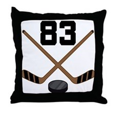 Hockey Player Number 83 Throw Pillow