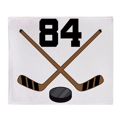 Hockey Player Number 84 Throw Blanket