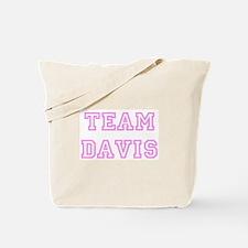 Pink team Davis Tote Bag