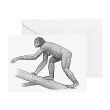 Early hominid Ardipithecus ramidus - Greeting Card