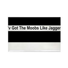 Moobs Like Jagger Rectangle Magnet