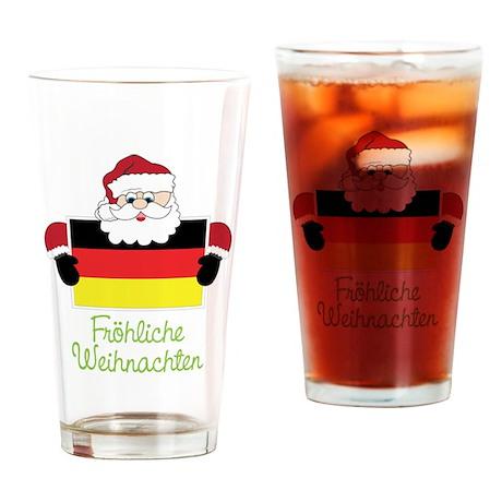 Frohliche Weihnachten Drinking Glass