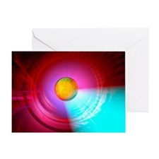 Higgs Boson particle, artwork - Greeting Card