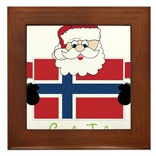 God Jul Framed Tile