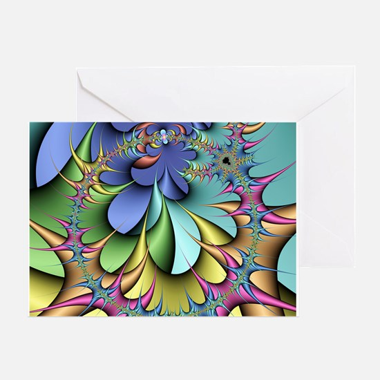 Julia fractal - Greeting Card
