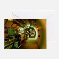 LEP particle collider at - Greeting Card