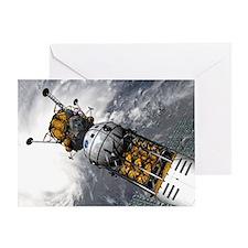 Lunar tug and lander, artwork - Greeting Card