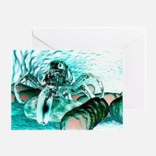 Medical nanorobot, artwork - Greeting Card