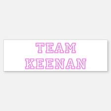 Pink team Keenan Bumper Bumper Bumper Sticker