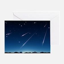 Meteor shower, artwork - Greeting Card