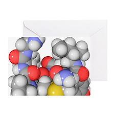 Oxytocin neurotransmitter molecule - Greeting Card