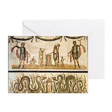 Pig sacrifice, Roman fresco - Greeting Card