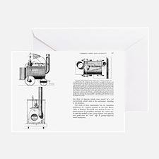 Puffing Devil locomotive, artwork - Greeting Card