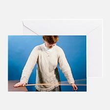 Ruler vibrating - Greeting Card
