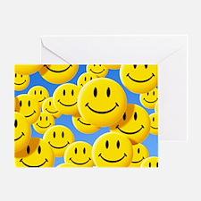 Smiley face symbols - Greeting Card