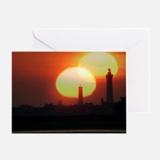 Spring equinox sunset, composite image - Greeting