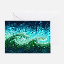 Storm waves, chaos model - Greeting Card