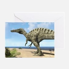Suchomimus dinosaur, artwork - Greeting Card