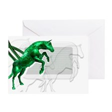 Trojan horse, conceptual artwork - Greeting Card