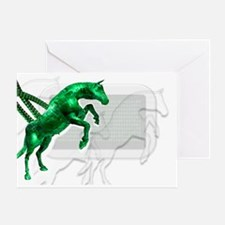 Trojan horse, conceptual artwork - Greeting Card