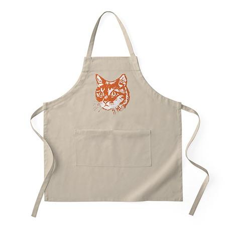Orange Kitty Cat Head Apron