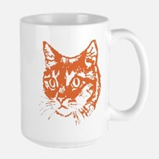 Orange Kitty Cat Head Mug