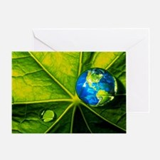 Abstract art of Earth - Greeting Card