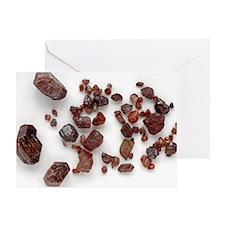 Zircon crystals - Greeting Card