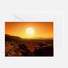 Alien landscape, artwork - Greeting Card