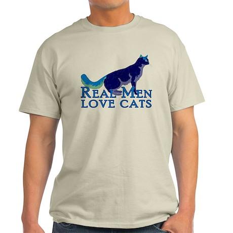 Real Men Love Cats Light T-Shirt