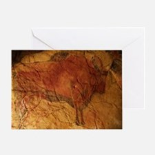 Altamira cave painting of a bison - Greeting Card
