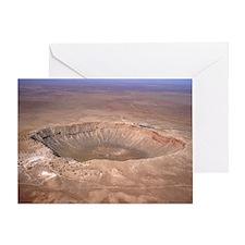 Aerial view of Meteor Crater, Arizona - Greeting C