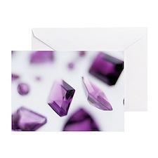 Amethyst gemstones - Greeting Card