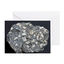 Anorthite in andesite - Greeting Card