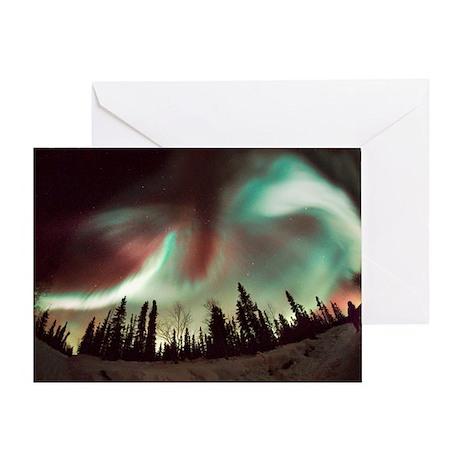 Aurora borealis - Greeting Card