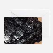 Anthracite coal - Greeting Card