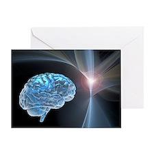 Brain research, conceptual artwork - Greeting Card