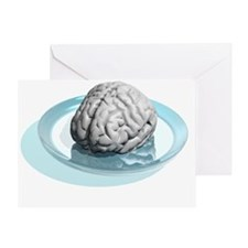 Brain research, conceptual artwork - Greeting Card