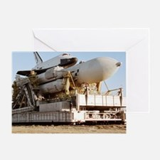 Buran space shuttle before flight - Greeting Card