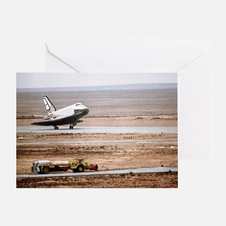 Buran space shuttle landing - Greeting Card