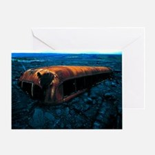 Bus and lava flow - Greeting Card