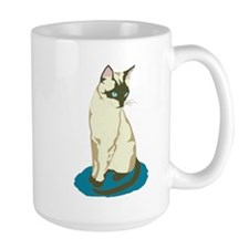 Siamese Cat on Blue Mug