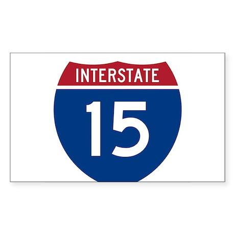 I-15 Highway Oval Sticker